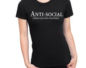 Anti-social shirt   Choco...