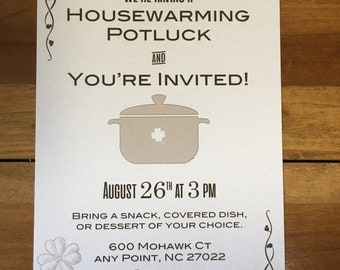 Housewarming Invitation - Time for a Potluck