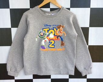 e1ce33e7c1 Vintage 90s Toy Story Cartoon Sweatshirt Jumper Pullover L Size Rare Item