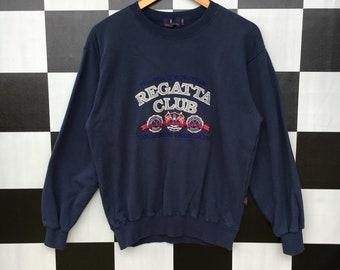 4f050359fc8c2d Vintage Regatta Club Sweatshirt Big Logo Jumper Pullover 90s M Size Rare  Item