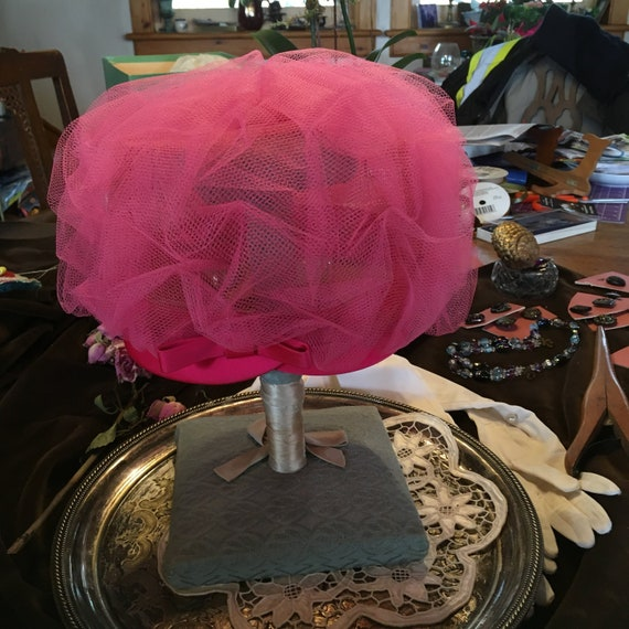 Pink Confection/Turban Hat/Party/Wedding Hat/ Tea