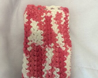 Pink and White Phone Cozy