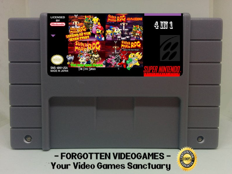 Mario RPG 4 in 1 - Legend Of Seven Stars - Armaggedon - Axem Rangers -  Bob-omb Mafia: The Five Shells - Multicart - SNES Super Nintendo