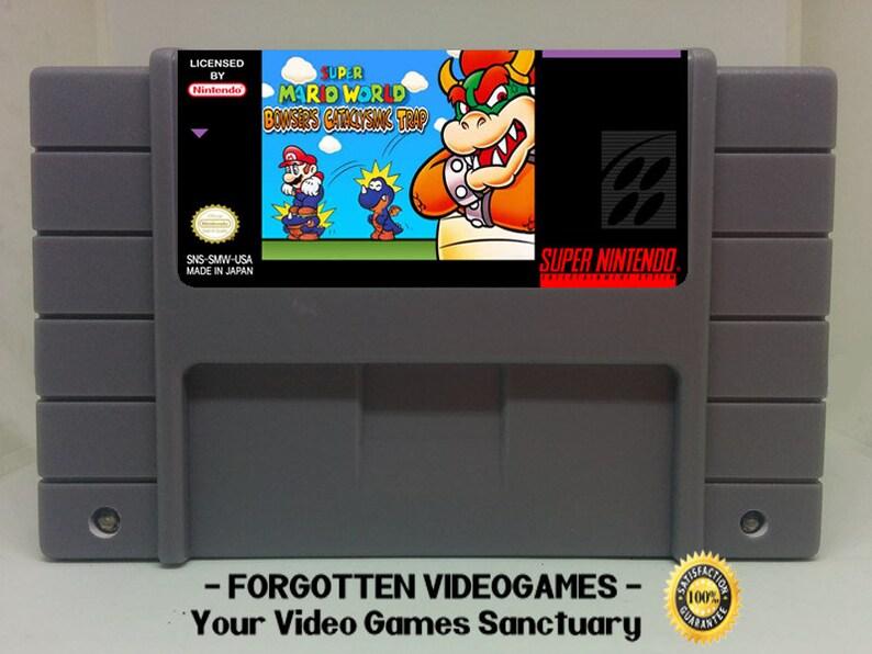Super Mario World: Bowser's Cataclysmic Trap ( Super Mario World ) - SNES  Super Nintendo