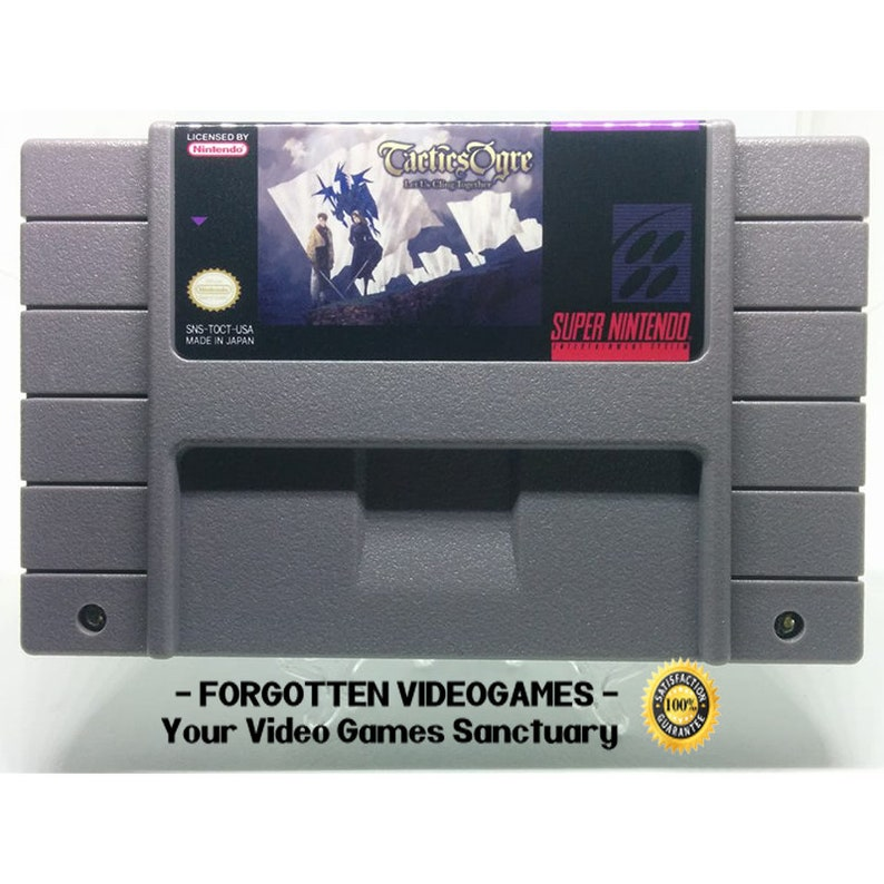 Tactics Ogre: Let Us Cling Togheter - English Translation SNES Super  Nintendo