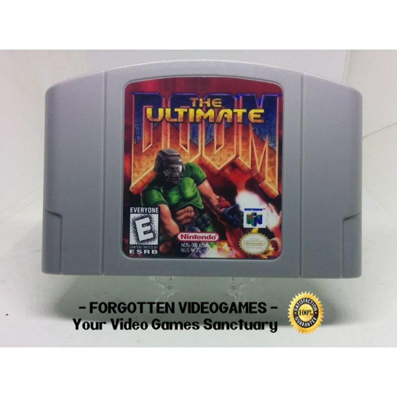 Doom The Ultimate ( Pc port ) - N64 Nintendo 64 *** read description *** -  NTSC or PAL