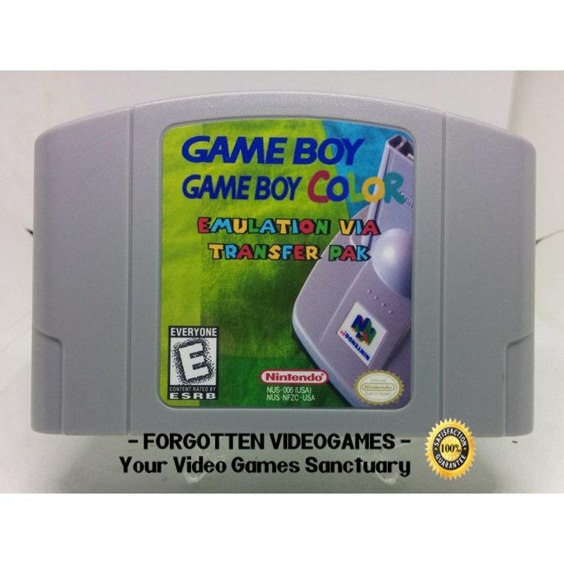 Gameboy / Game boy Color to N64 via TRANSFER PAK - N64 Nintendo 64 *** read  description ***