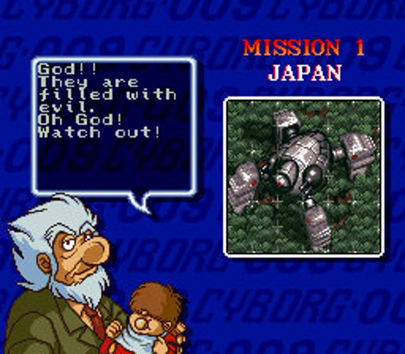 Cyborg 009 - SNES - English Translation- Super Nintendo