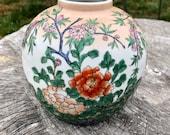 Vintage Handpainted Porcelain Macau Ginger Jar