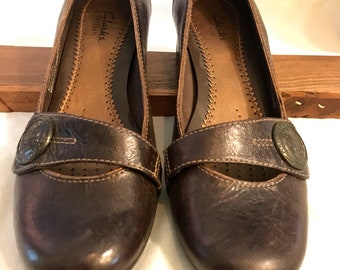 303703d59 Clarks Brown Leather Shoes