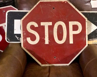 5cace2d7acb Vintage Stop Sign   Road Sign