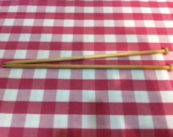 A lovely pair of wooden knitting needles.