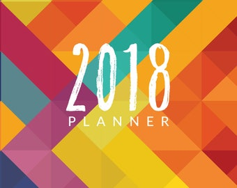 Children's 2018 Planner - Abstract Brights