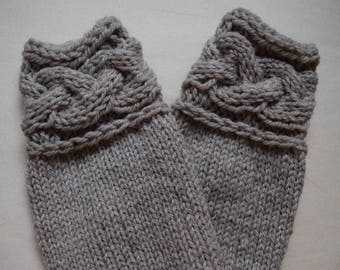 Braided Cable Mitts