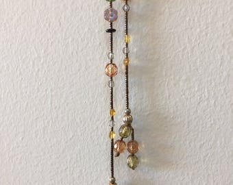 Beautiful Beaded Lariat Necklace