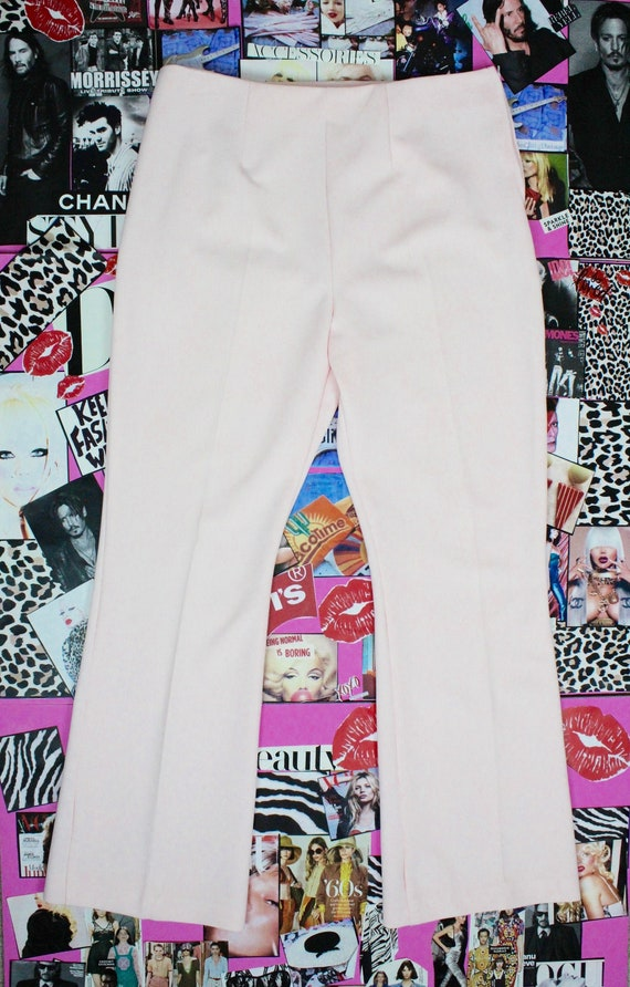 Vintage 70's Pastel Pink Striped Flared Pants