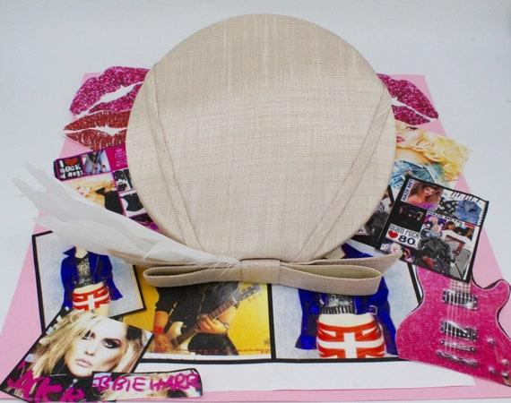 Vintage 50's 60's Creamy Beige Fascinator Hat,Pil… - image 7