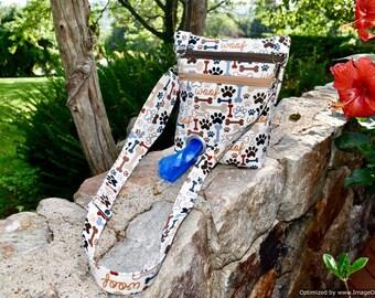 The Dog Walker Bag Pet Lover Gift with Poop Bag Dispenser with Paw Prints