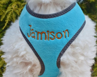 Personalized DOG Harness Boy Girl | Padded Adjustable Vest Dog Harness | FREE Custom Embroidered Dog Harness | Personalized Pet Gift
