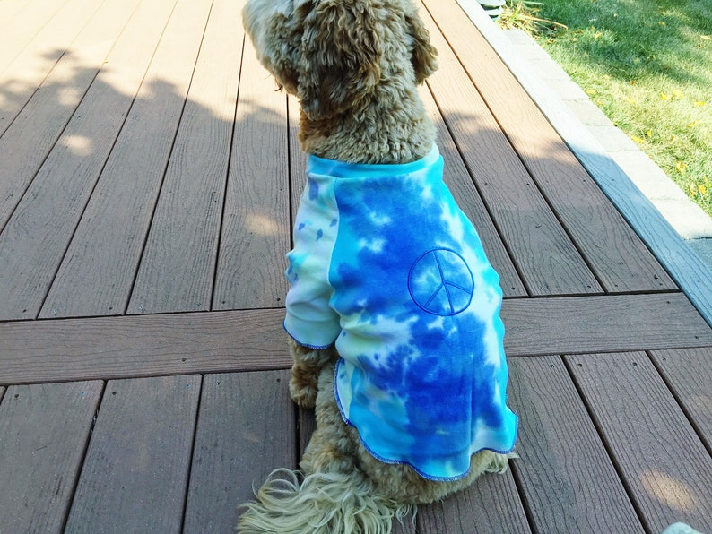 08fb405e847b Sassy Dog TIE DYE Hippie World PEACE T Shirt in an Embroidered   Etsy