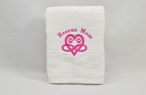 RESCUE MOM Large Luxury Spa Hand Towel