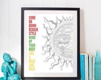 Sublime - Slow Ride - Digital Print for Instant Download