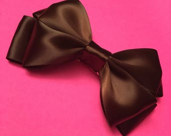 """Double layered hair bow in """"Haute Chocolate"""""""