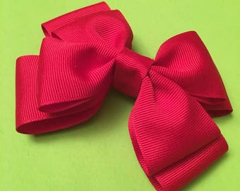 "Double layered bow in ""Cheery"""