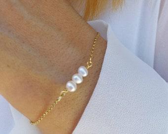 Fine Pearl Bracelet 14k Gold Filled