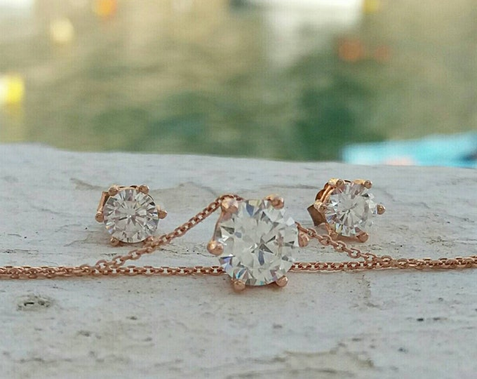 ROSE GOLD DIAMOND BRIDAL SET