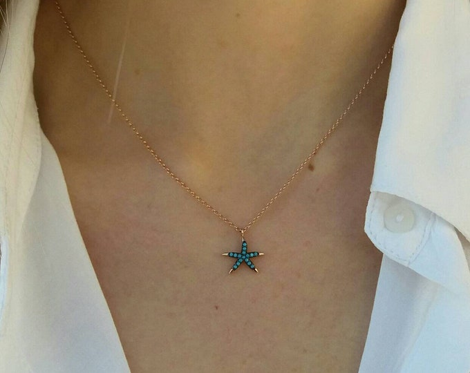 STARFISH TURQUOISE NECKLACE