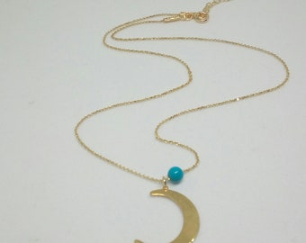 Crescent Moon Necklace, 14Gold Filled Necklace, Moon Necklace, Dainty Necklace, Everyday Jewellery, Girlfriend Gift