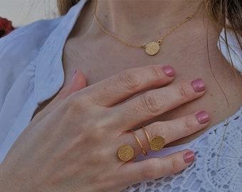 Greek Phaistos Disk Necklace