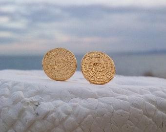 Phaistos Disk Earrings