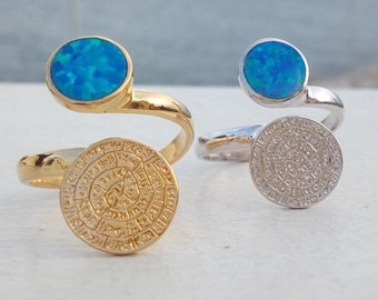 Phaistos Opal Ring