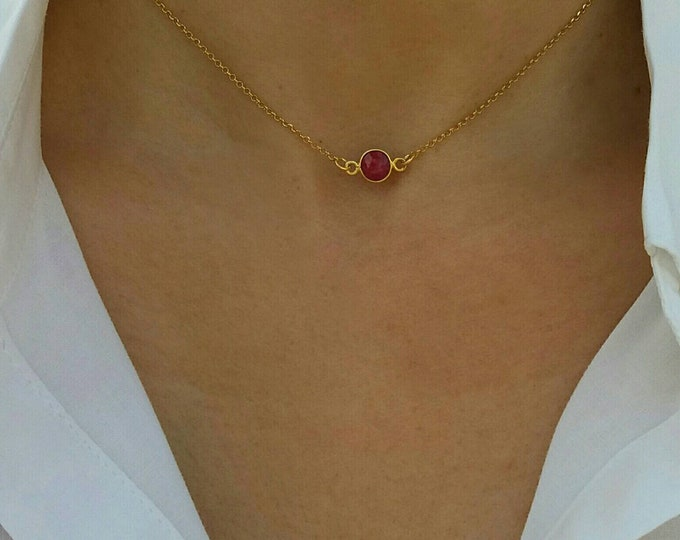 RUBY QUARTZ NECKLACE