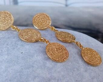 Triple Phaistos Earrings