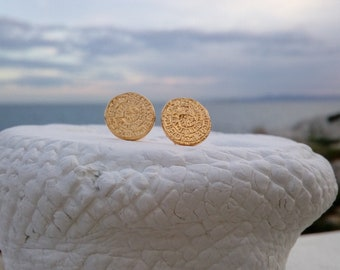 Phaistos Disk Earrings