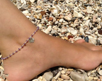 Amethyst Anklet