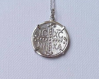 Solid White Gold Christian Necklace