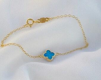 Gold Filled Clover Bracelet