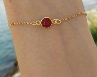 Ruby Quartz Bracelet