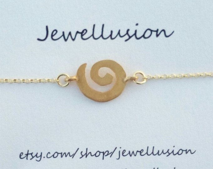 Spiral Necklace, 14k Gold Filled, Coil Necklace, Everyday Jewellery, 925 Sterling Silver, Greek Symbol, Bridesmaid Gift, Σπείρα Κολιέ, Chic