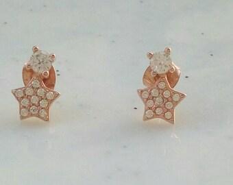 Zircon Star Earrings