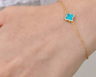 Gold Filled Clover Bracelet
