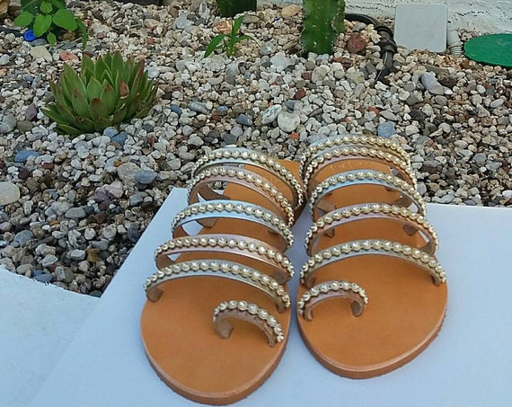 Wedding Sandals for Bride, Greek Sandals, Greek Handmade Leather Sandals,Bridesmaid Gifts, Ancient Greek Sandals, Genuine Greek Leather