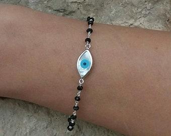 Rosary Evil Eye Bracelet