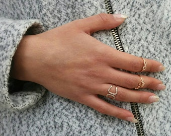 Rose Gold Infinity Ring, Cubic Zirconia, Everyday Ring, 14k Gold Fill, High Quality,Everyday Ring, Sister Gift, Birthday Gift, Chic