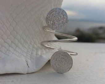 Double Phaistos Disk Ring