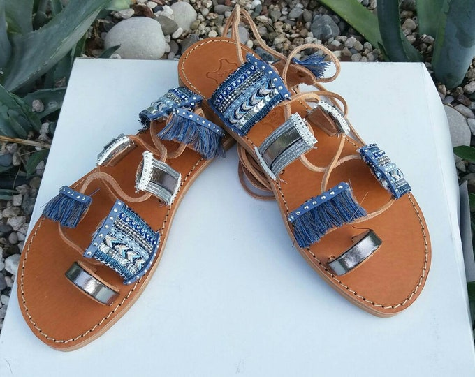 Gladiator  Sandals, Boho Chic Greek Sandals, 100% Genuine Leather Sandals, Handmade Greek Leather  Sandals, Handmade Summer Sandals